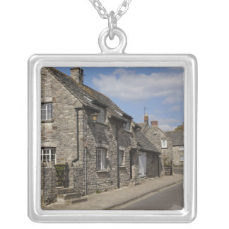 Cottages, village de château de Corfe, Dorset, Collier