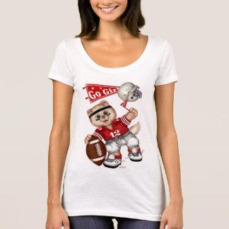 Cou de niveau TShirt2 du scoop des femmes de CAT T-shirt