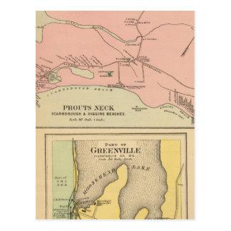 Cou Scarborough, plages de Prouts de Higgins Carte Postale