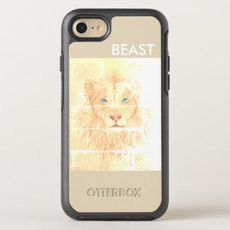Couche BEAST/Leão blanche pour iPhone Coque Otterbox Symmetry Pour iPhone 7