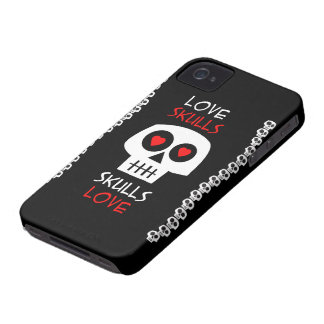Couche Cellulaire iPhone 4 Skulls Love Coques Case-Mate iPhone 4