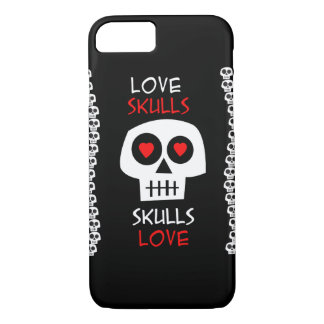 Couche Cellulaire iPhone 7 Skulls Love Coque iPhone 7