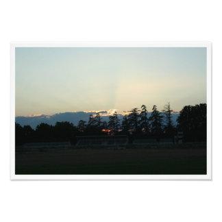 Coucher de soleil à Carpentras Impression Photo