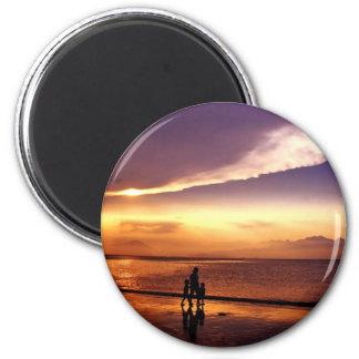 coucher du soleil 2 aimant
