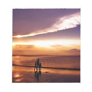 coucher du soleil 2 bloc-note