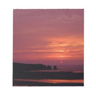 coucher du soleil 3 bloc-note