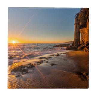 Coucher du soleil à la plage 2 de Victoria Carreau