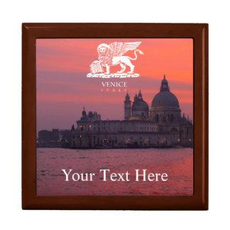 Coucher du soleil à Venise Grande Boîte À Bijoux Carrée