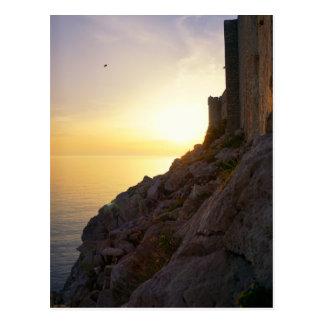 Coucher du soleil adriatique cartes postales