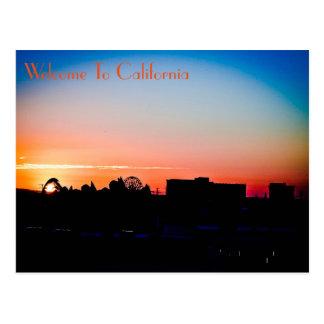 Coucher du soleil Anaheim de carte postale