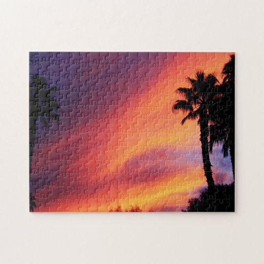 Coucher du soleil ardent puzzle