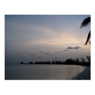 Coucher du soleil au-dessus d île d Anegada Carte Postale