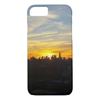 Coucher du soleil au-dessus de coque iphone de