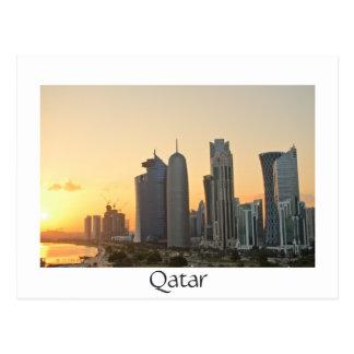 Coucher du soleil au-dessus de Doha, carte postale