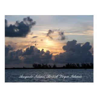 Coucher du soleil au-dessus de point de Pomato (ti Cartes Postales