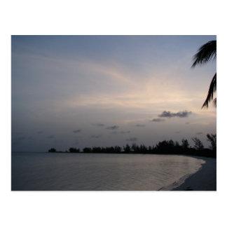 Coucher du soleil au-dessus d'île d'Anegada Cartes Postales