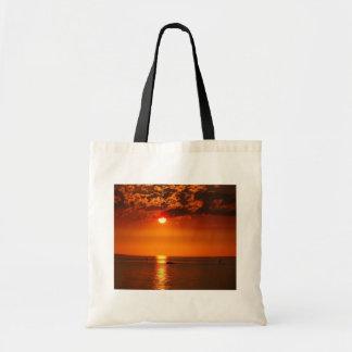 Coucher du soleil au sac fourre-tout au Lac de