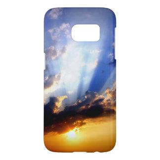 Coucher du soleil avec des nuages, beau ciel coque samsung galaxy s7