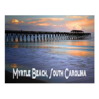 Coucher du soleil carte postale de Myrtle Beach,