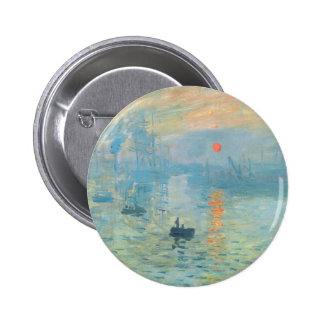 Coucher du soleil - Claude Monet Badge