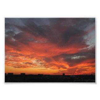Coucher du soleil coloré impression photo