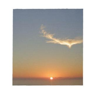coucher du soleil d'ange bloc-note