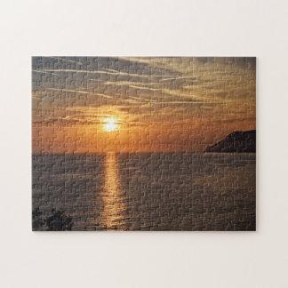 Coucher du soleil dans le Cinque Terre, puzzle de