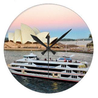 Coucher du soleil dans l'horloge de Sydney Grande Horloge Ronde