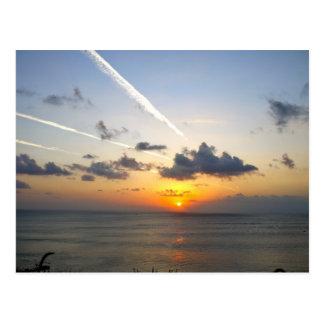 Coucher du soleil de Bali Carte Postale