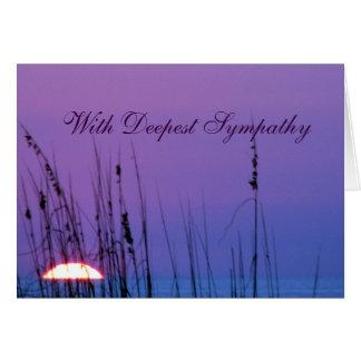Coucher du soleil de bleu de sympathie carte de vœux
