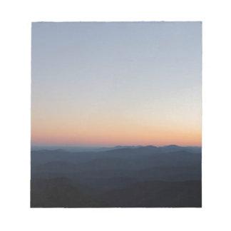 Coucher du soleil de Blue Ridge Mountains Bloc-note