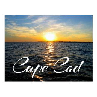 Coucher du soleil de Cape Cod, carte postale de