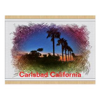 Coucher du soleil de carte postale à Carlsbad, la