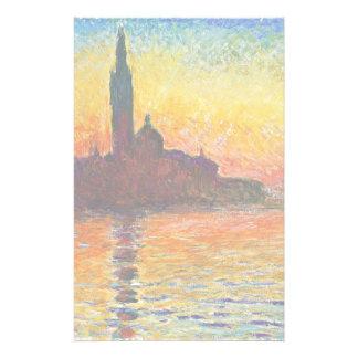 Coucher du soleil de Claude Monet à Venise Papier À Lettre Personnalisable