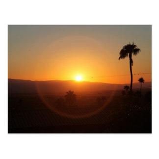 Coucher du soleil de désert cartes postales