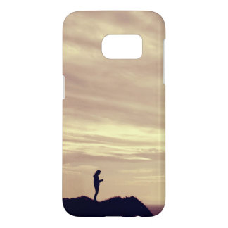 Coucher du soleil de falaises de Pennard Coque Samsung Galaxy S7