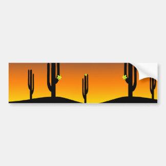 Coucher du soleil de fleur de cactus autocollant de voiture