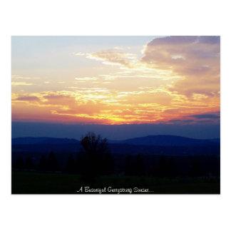 Coucher du soleil de Gettysburg Carte Postale