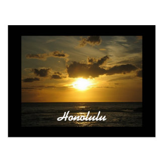 Coucher du soleil de Honolulu Carte Postale