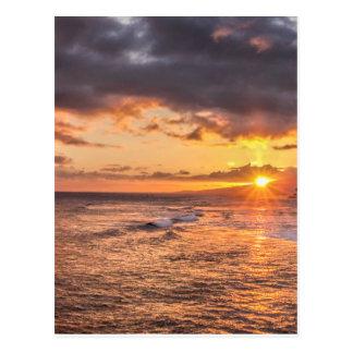 Coucher du soleil de Honolulu Cartes Postales