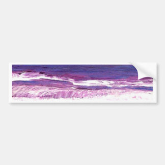 Coucher du soleil de Jeweltone - art d'océan de Cr Autocollant De Voiture