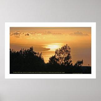 Coucher du soleil de Kaho'olawe Poster