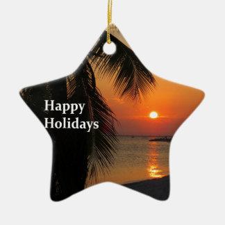 Coucher du soleil de Key West Ornement Étoile En Céramique