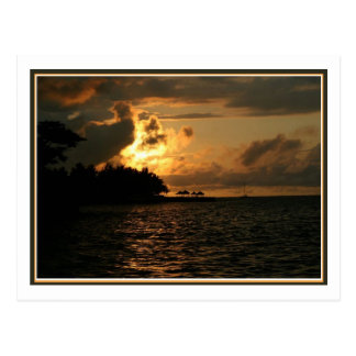 Coucher du soleil de la Jamaïque Carte Postale