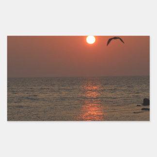 Coucher du soleil de la Sardaigne Sticker Rectangulaire