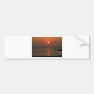 Coucher du soleil de la Sardaigne Autocollant De Voiture