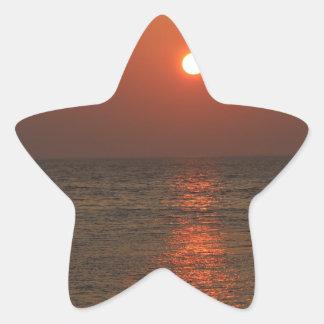 Coucher du soleil de la Sardaigne Sticker Étoile