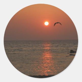 Coucher du soleil de la Sardaigne Sticker Rond