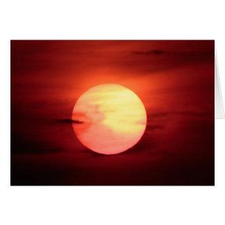 Coucher du soleil de la science fiction carte de vœux