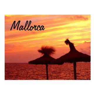 Coucher du soleil de Majorque - carte postale